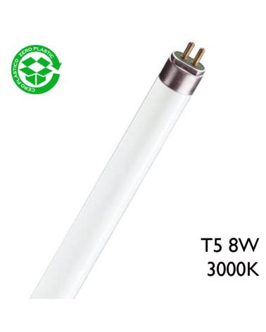 Tubo fluoresceste 8W T5 30cm 3000K Cálido