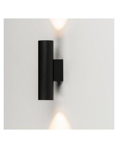Aplique 4cm cilindro acero liso luz superior e inferior 2 x LED 5W  2700K 500Lm