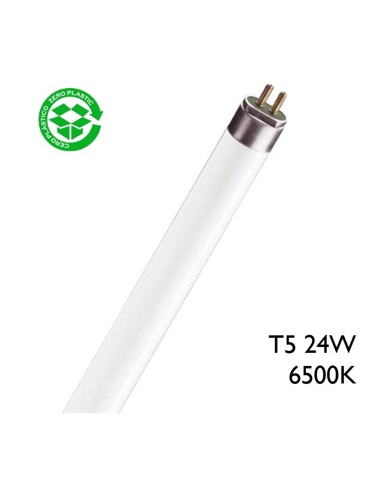 Tubo fluorescente trifósforo 24W T5 54,9cm 6500K F24T5/865 Luz día
