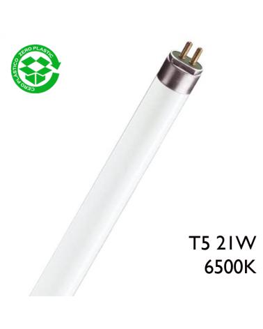 Tubo fluorescente trifósforo 21W T5 84,9cm 6500K F21T5/865 Luz día