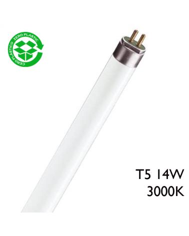 Tubo fluorescente Trifósforo de 14W T5 54,9cm 3000K Luz blanca cálida 3000K F14T5/830