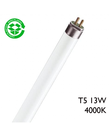 Tubo fluorescente Trifósforo de 13W T5 Luz blanca 51,6cm 4000K F13T5/840