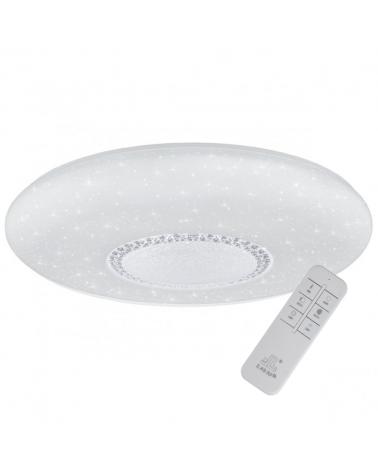 Plafón 72cm redondo con circulo de cristales tallados múltiples destellos con mando distancia regulable LED 86W 8170Lm