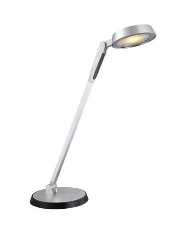 Flexo gris 78cm 10W LED 3000K regulable al tacto