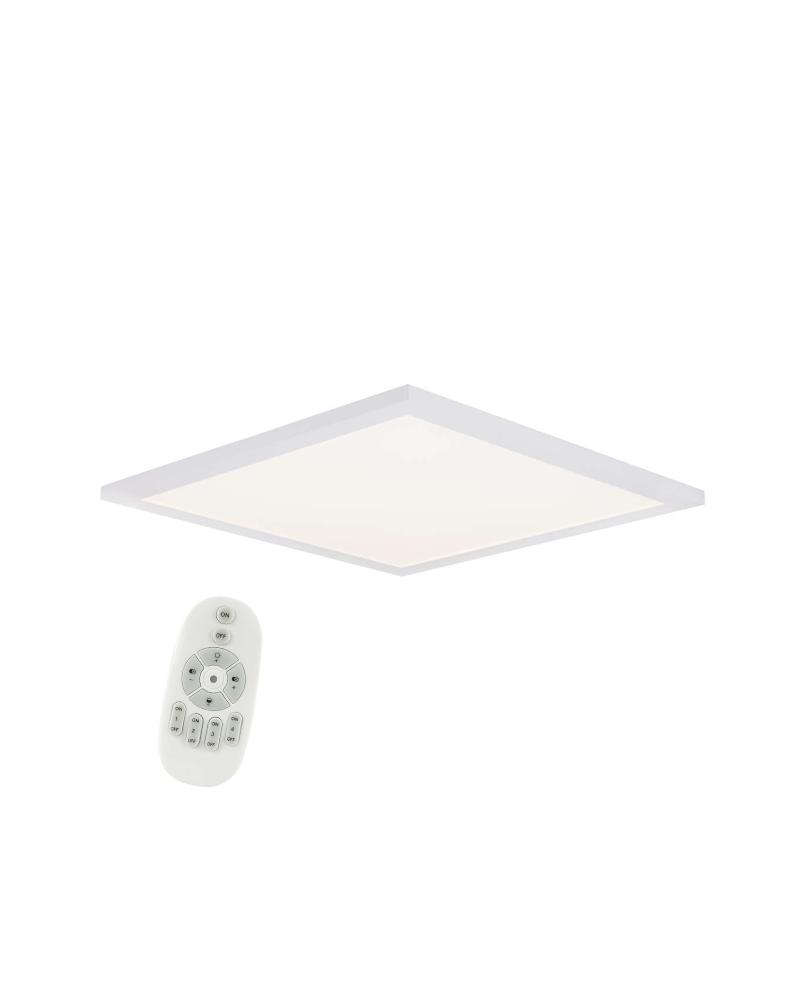 Plafón LED en aluminio blanco 45X45cms regulable con mando a distancia LED 30W