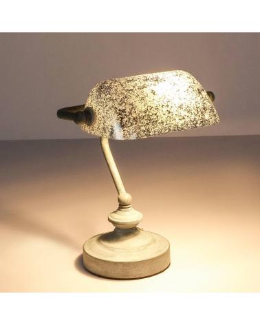 Lámpara de banquero de escritorio 25W E14 acabado gris cemento