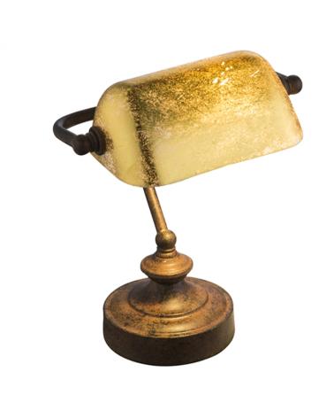 Lámpara de banquero de escritorio 25W E14 acabado acrílico óxido metalizado