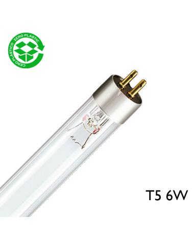 Tubo germicida 6W T5 G5 212mm G6T5