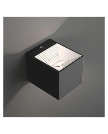 Aplique luz inferior ó superior 8cm cubo aluminio LED 7W 2700K 665Lm