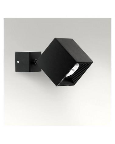 Aplique 8x17,4cm aluminio extrusionado forma cubo GU10 10W regulable y oscilante