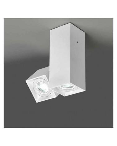 Foco doble 16,2cm cúbicos para techo aluminio extrusionado 2x GU10 1 oscilante