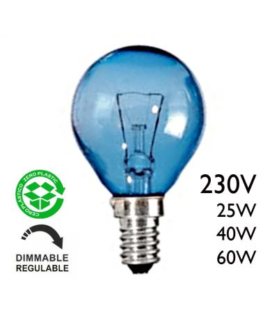 Bombilla incandescente esférica solar E14 230V de filamento