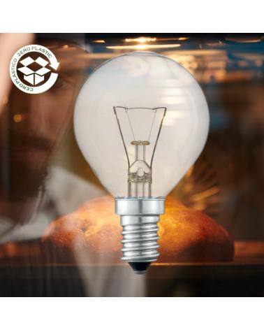 Lámpara esférica para hornos 40W E14 300ºC 230V