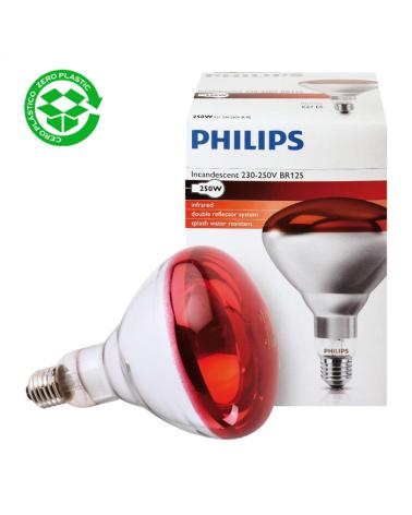 Lámpara infrarrojos Philips Incandescente 250W BR125  E27