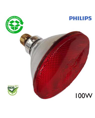 """Bombila PAR38 infrarojos Philips 100W """"ENERGY SAVER""""  E27 - roja"""