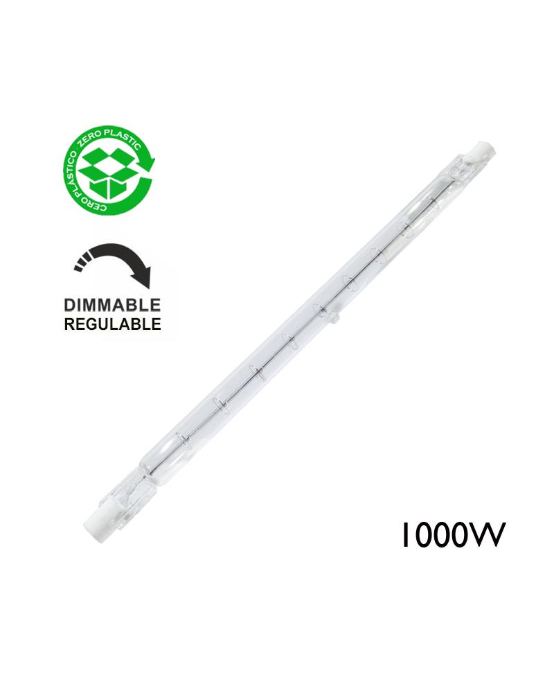 Lámpara halógena regulable lineal 1000W R7S