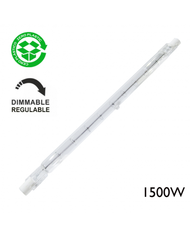 Lámpara halógena regulable lineal 1500W R7S