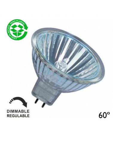 Spot Dicroica halógena 12V Regulable GU5,3 60º acabado cristal 4000h