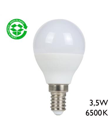 Bombilla esférica LED 3,5W E14 6500K 255Lm