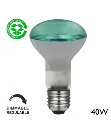 Bombilla reflectora incandescente color 40W E27 63mm