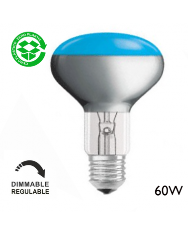Bombilla reflectora incandescente color 60W E27 80mm
