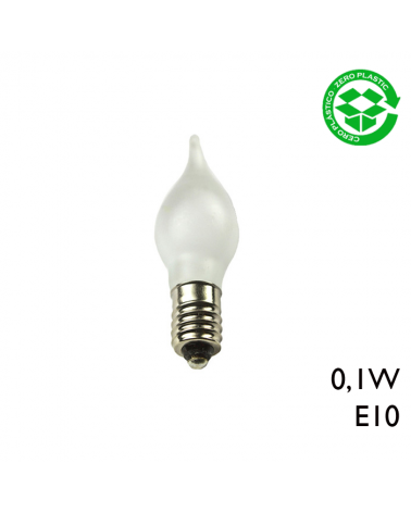 Bombilla Vela Mariposa LED 0,1W  E10 3200K Luz cálida