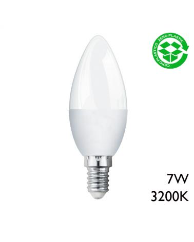 Bombilla vela LED 7W E14 luz cálida