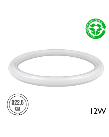 Tubo circular LED G10Q 12W 1000 Lm  luz cálida