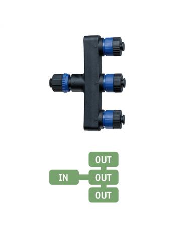 Distribuidor triple para pinchos de jardín IP68