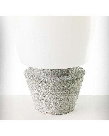 Outdoor floor lamp conical shape white Kampazar 80 with portable concrete base IP65