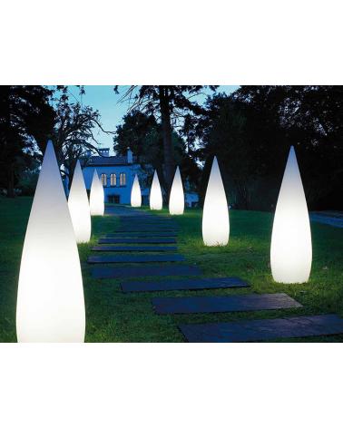 Outdoor floor lamp conical shape white Kampazar 150 IP65 floor fixing