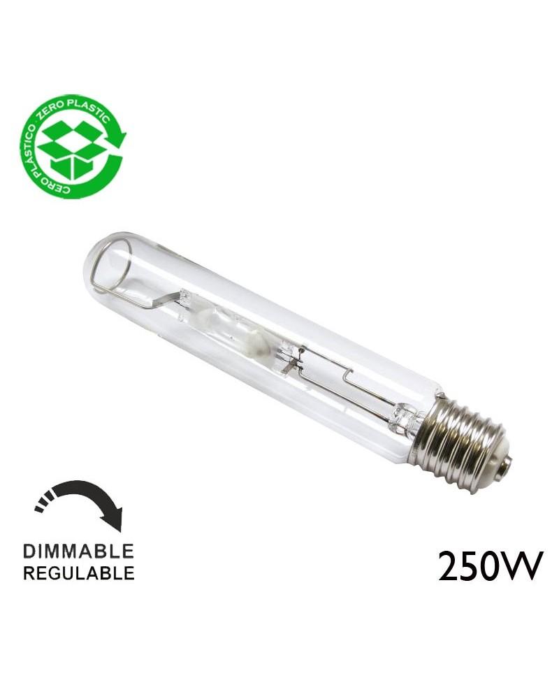 Lámpara de halogenuros metálicos 250W tubular E40 4000ºK
