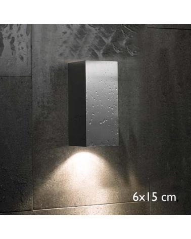 Aplique de exterior Block Out W15 luz directa o indirecta IP54 GU10