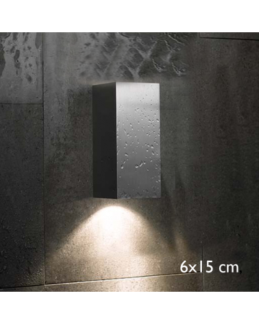 Outdoor wall light Block Out W15 direct or indirect light IP54 GU10