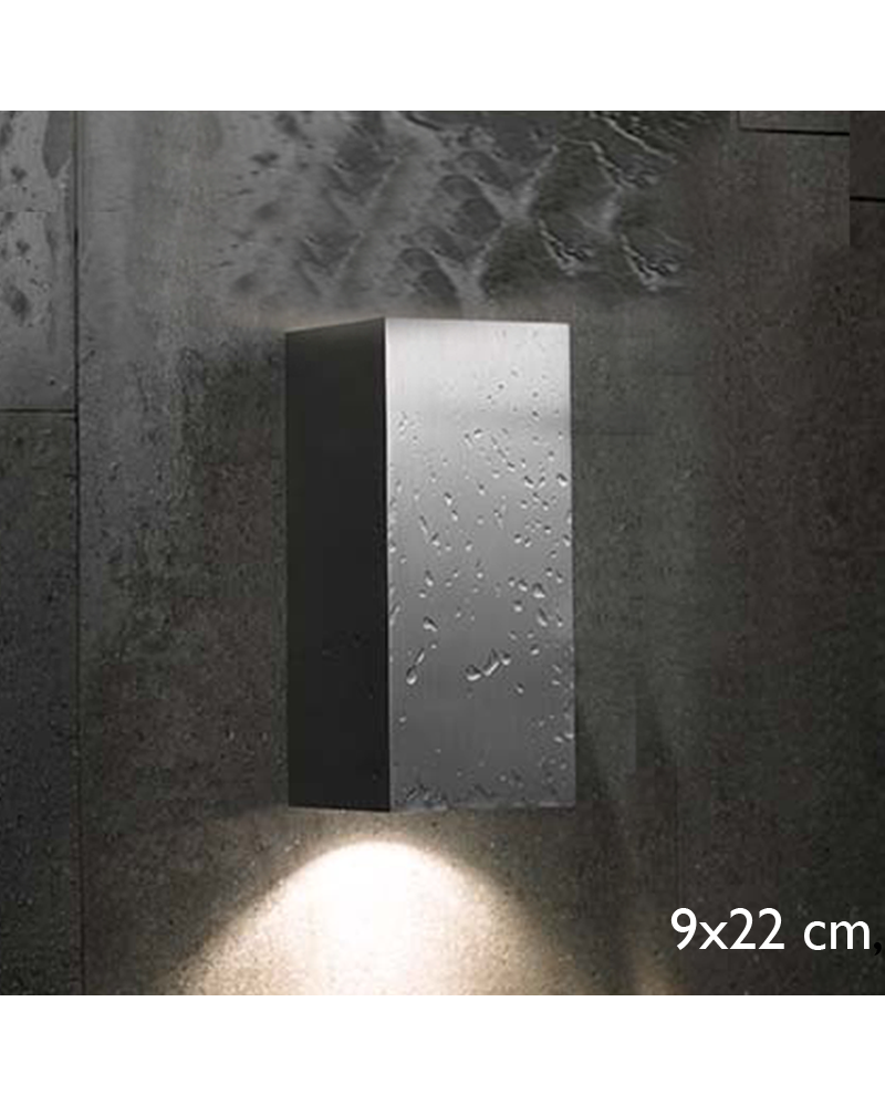 Outdoor wall light Block Out W20 direct or indirect light IP54 GU10