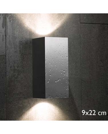 Aplique de exterior Block Out W20 luz directa o indirecta IP54 GU10 Luz superior e inferior