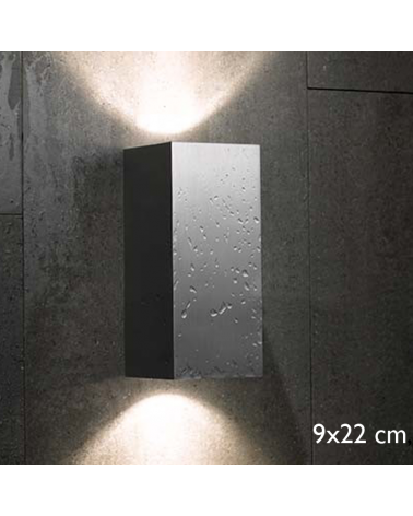 Outdoor wall light Block Out W20 direct or indirect light IP54 GU10 Upper and lower light