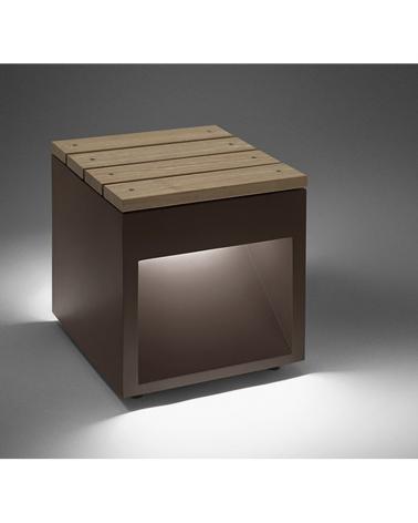 Lap Bech B wooden bench 45 cm long, portable IP65 LED 2x6,5W 3000K
