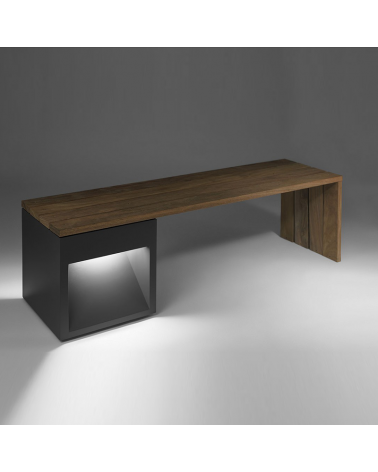 Lap Bech 45-2A wooden bench 160 cm long, fixing to the floor IP65 LED 2x6,5W 3000K