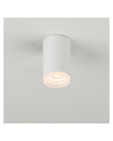 Foco cilindro liso de superficie fijo 5,5cm acero GU10 regulable aro decorativo