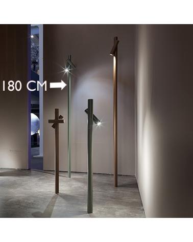 Baliza para exterior Tube 180 cm de altura acabado en caqui con 2 focos LED giratorios de 4,5W 3000K IP55