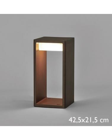 Baliza para exterior Frame S de 42,5 cm de aluminio LED 16,6W 2700K