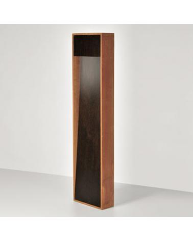 Baliza para exterior Zen 50 cm de altura acabado en corten y madera LED 4,5W 3000K IP55