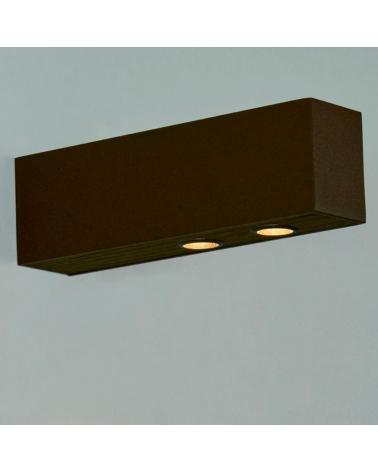 Aplique de exterior de aluminio y madera LED 2x6,4W 3000K IP65