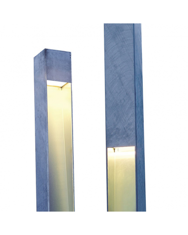 Outdoor lamppost Topa 320-2 270cm high monolithic shape two LED light sources 2x32,1W 3000K IP65