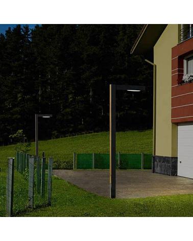 Farola de exterior Zenete 300-1 303cm de altura de metal galvanizado LED 23,6W 3000K IP65