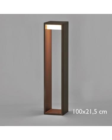 Outdoor beacon Frame L 100 cm in aluminum LED 16,6W 2700K