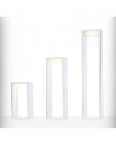 Baliza para exterior Frame L de 100 cm de aluminio LED 16,6W 2700K