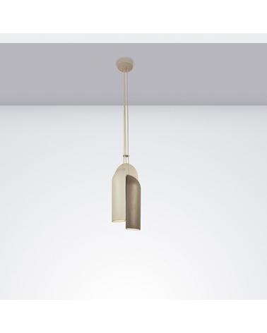 Lámpara de diseño de techo IRELAND S20 pantalla cerámica con tres cuerpos E27 30W