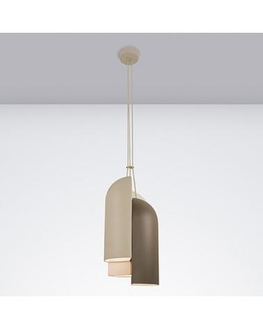 Lámpara de diseño de techo IRELAND S30 pantalla cerámica con tres cuerpos E27 30W